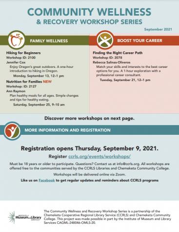 September Community Workshop Schedule