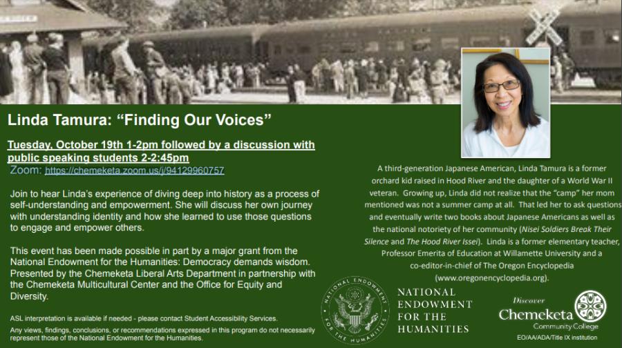 "Linda Tamura: ""Finding Our Voices"" NEH Speaking Event"