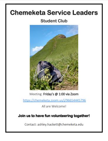 Join the Chemeketa Service Leaders Club