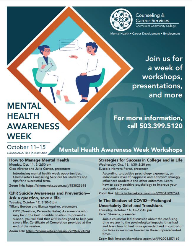 Mental Health Week Oct 11-15